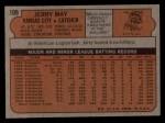 1972 Topps #109  Jerry May  Back Thumbnail