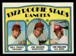 1972 Topps #334   -  Bill Fahey / Jim Mason / Tom Ragland Rangers Rookies   Front Thumbnail