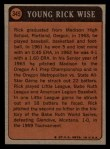 1972 Topps #345   -  Rick Wise Boyhood Photo Back Thumbnail