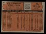 1972 Topps #367  Ron Perranoski  Back Thumbnail