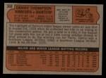 1972 Topps #368  Danny Thompson  Back Thumbnail