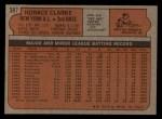 1972 Topps #387  Horace Clarke  Back Thumbnail