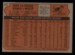 1972 Topps #451  Tony La Russa  Back Thumbnail