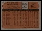 1972 Topps #472  Phil Gagliano  Back Thumbnail