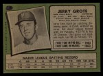 1971 Topps #278  Jerry Grote  Back Thumbnail