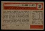 1954 Bowman #35 COR Eddie Joost  Back Thumbnail