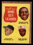 1962 Topps #54   -  Orlando Cepeda / Willie Mays / Frank Robinson NL HR Leaders Front Thumbnail