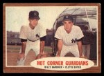 1962 Topps #163 A  -  Billy Gardner / Clete Boyer Hot Corner Guardians Front Thumbnail