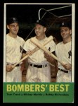 1963 Topps #173   -  Mickey Mantle / Bobby Richardson / Tom Tresh Bomber's Best Front Thumbnail