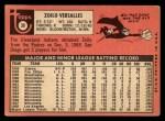 1969 Topps #38  Zoilo Versalles  Back Thumbnail