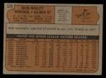 1972 Topps #526  Bob Bailey  Back Thumbnail