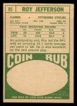 1968 Topps #85  Roy Jefferson  Back Thumbnail