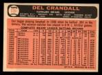 1966 Topps #339  Del Crandall  Back Thumbnail