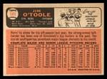 1966 Topps #389  Jim O'Toole  Back Thumbnail