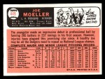 1966 Topps #449  Joe Moeller  Back Thumbnail