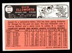 1966 Topps #447  Dick Ellsworth  Back Thumbnail