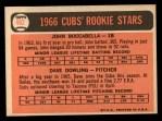 1966 Topps #482   -  John Boccabella / Dave Dowling Cubs Rookies Back Thumbnail