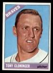 1966 Topps #10  Tony Cloninger  Front Thumbnail