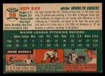 1954 Topps #98  Joe Black  Back Thumbnail