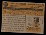 1960 Topps #527  Jose Valdivielso  Back Thumbnail