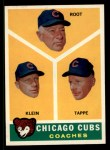 1960 Topps #457   -  Charlie Root / Lou Klein / Elvin Tappe Cubs Coaches Front Thumbnail
