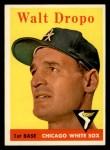 1958 Topps #338  Walt Dropo  Front Thumbnail