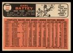 1966 Topps #240  Earl Battey  Back Thumbnail