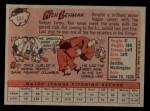1958 Topps #141  Ken Lehman  Back Thumbnail