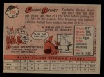 1958 Topps #139  George Brunet  Back Thumbnail