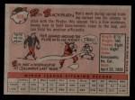 1958 Topps #459  Ron Blackburn  Back Thumbnail