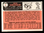 1966 Topps #91 xTR Bob Uecker  Back Thumbnail