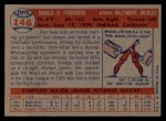1957 Topps #146  Don Ferrarese  Back Thumbnail