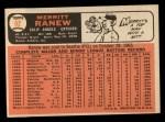 1966 Topps #62 SLD Merritt Ranew   Back Thumbnail