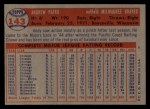 1957 Topps #143  Andy Pafko  Back Thumbnail