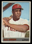1966 Topps #104 xTR Alex Johnson   Front Thumbnail