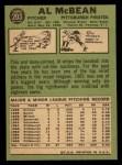 1967 Topps #203  Al McBean  Back Thumbnail