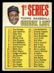 1967 Topps #62 A  -  Frank Robinson Checklist 1 Front Thumbnail