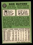 1967 Topps #232  Don Buford  Back Thumbnail