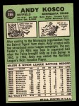 1967 Topps #366  Andy Kosco  Back Thumbnail
