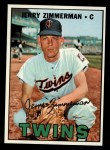 1967 Topps #501  Jerry Zimmerman  Front Thumbnail