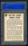 1967 Topps #587   -  Don Shaw / Gary Sutherland NL Rookies Back Thumbnail
