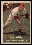 1957 Topps #46  Bob Miller  Front Thumbnail