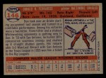 1957 Topps #146  Don Ferrarese  Back Thumbnail