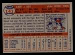 1957 Topps #141  Al Aber  Back Thumbnail