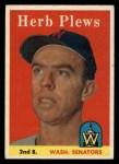 1958 Topps #109  Herb Plews  Front Thumbnail