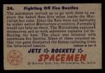 1951 Bowman Jets Rockets and Spacemen #24   Fighting Off Fire Beetles Back Thumbnail