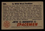1951 Bowman Jets Rockets and Spacemen #101   In Wild West Fashion Back Thumbnail