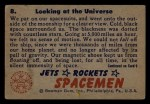 1951 Bowman Jets Rockets and Spacemen #8   Looking at the Universe Back Thumbnail