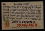 1951 Bowman Jets Rockets and Spacemen #17   Leaping Lepons Back Thumbnail