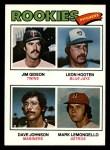 1977 Topps #478   -  Jim Gideon / Leon Hooten / Dave Johnson / Mark Lemongello Rookie Pitchers   Front Thumbnail